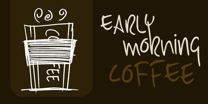 Image for DK Early Morning Coffee font