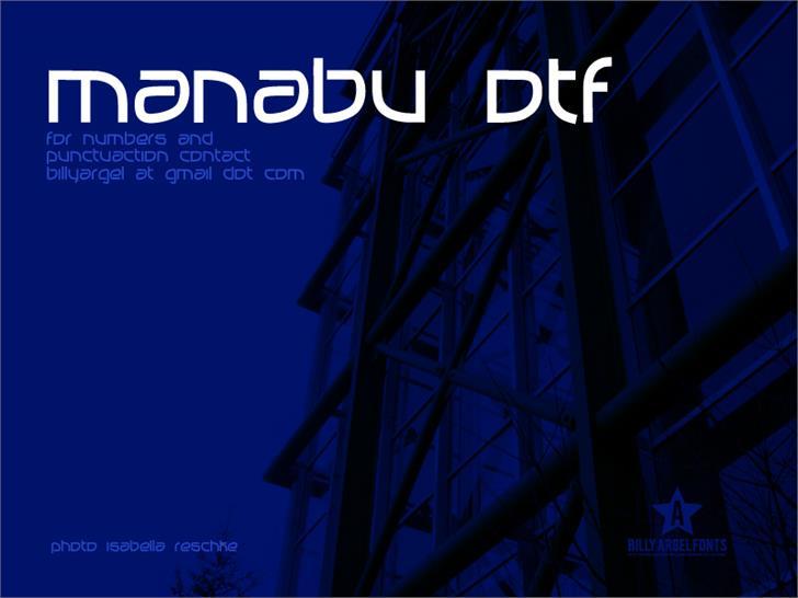 Image for MANABU font