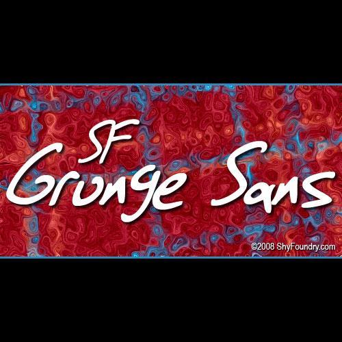 SF Grunge Sans font by ShyFoundry