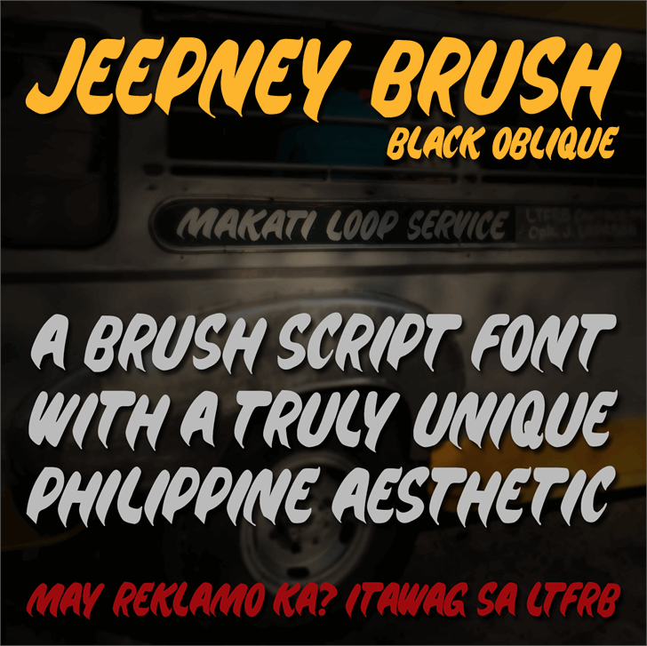 Image for Jeepney Brush font