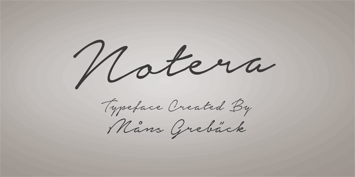 Image for Notera Personal Use Only font