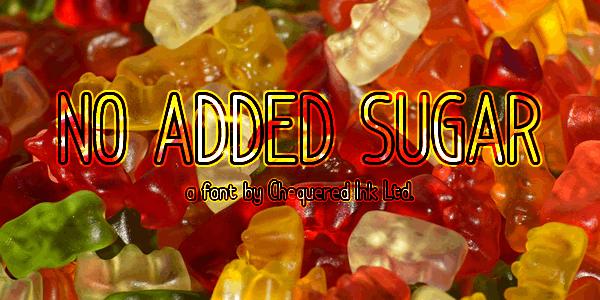 Image for No Added Sugar font