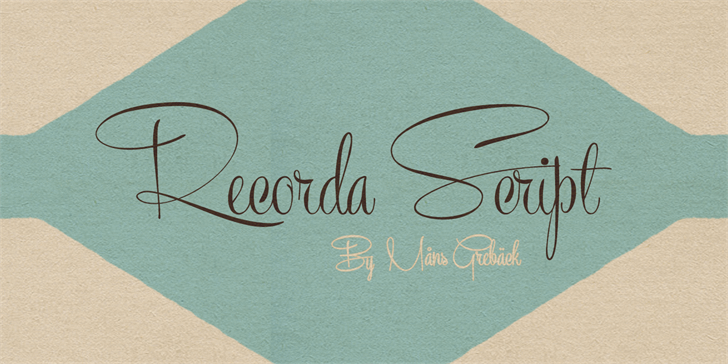 Image for Recorda Script Personal Use Onl font