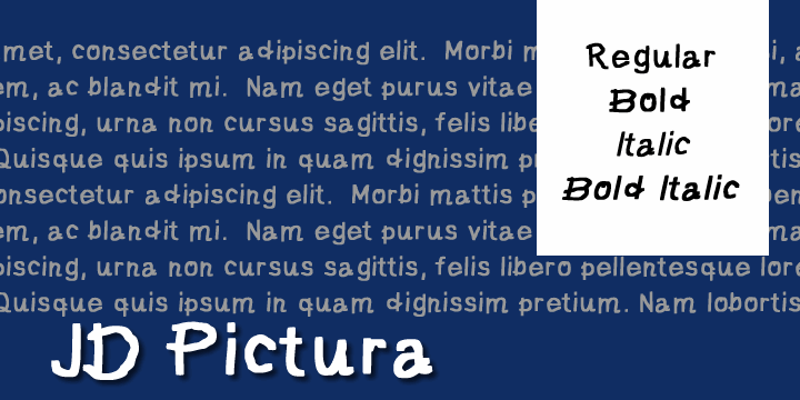 Image for JD Pictura font