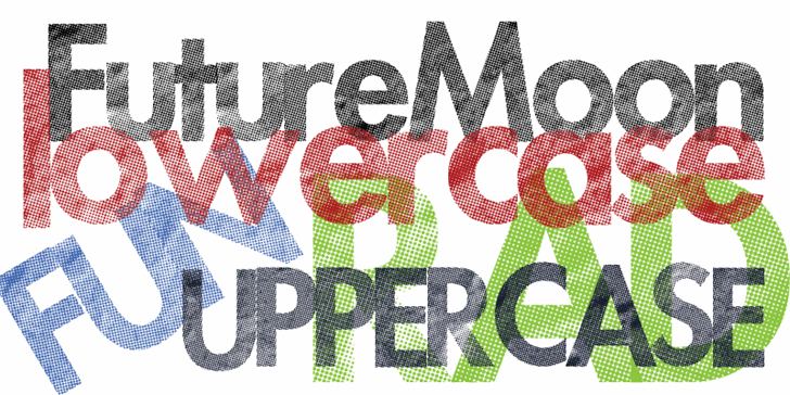 Futuremoon font by Xerographer Fonts