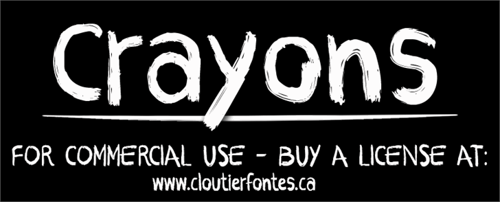 CF Crayons font by CloutierFontes