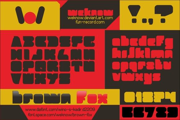 BROWN FOX font by weknow