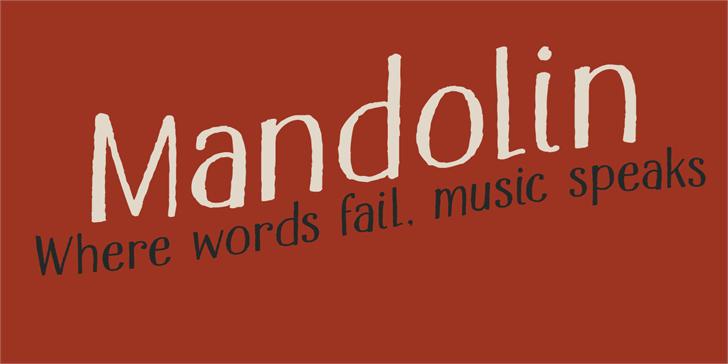 Image for DK Mandolin font