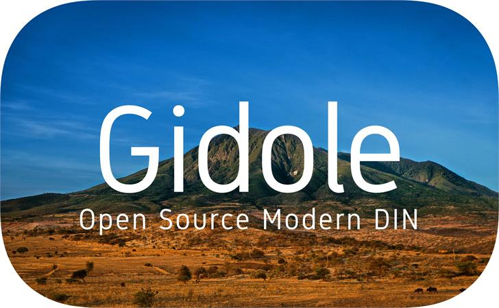 Gidole font by Andreas Larsen