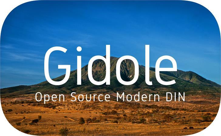 Image for Gidole font