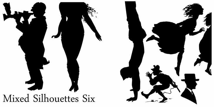 Image for Mixed Silhouettes Six font