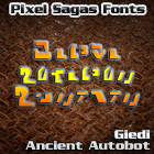 Image for Giedi Ancient Autobot font