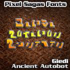 Giedi Ancient Autobot font by Pixel Sagas