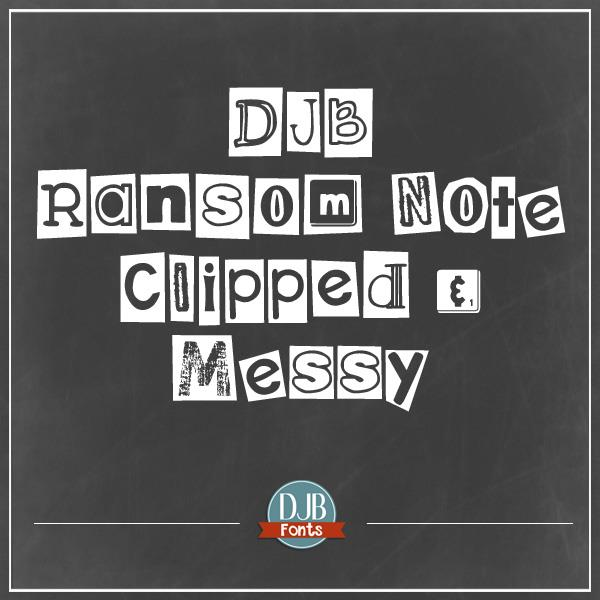 Image for DJB Ransom Note Clipped font
