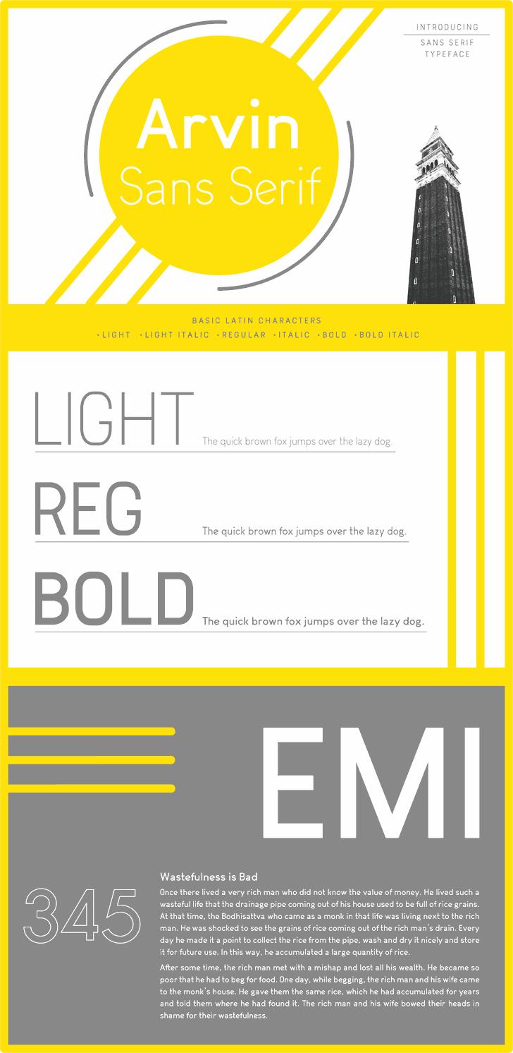 Image for Arvin Light font