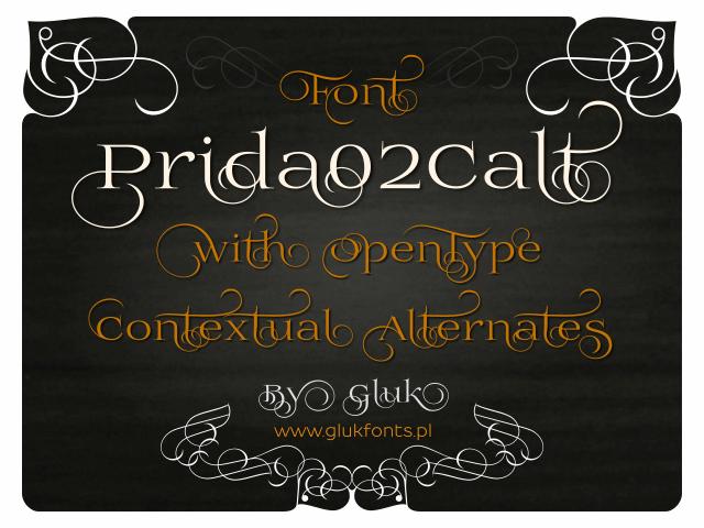 Prida02Calt font by gluk