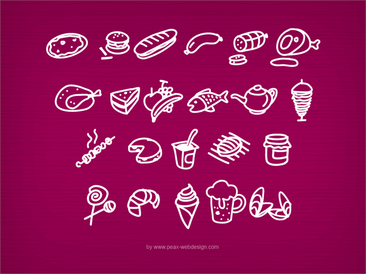 PWFoodcons font by Peax Webdesign