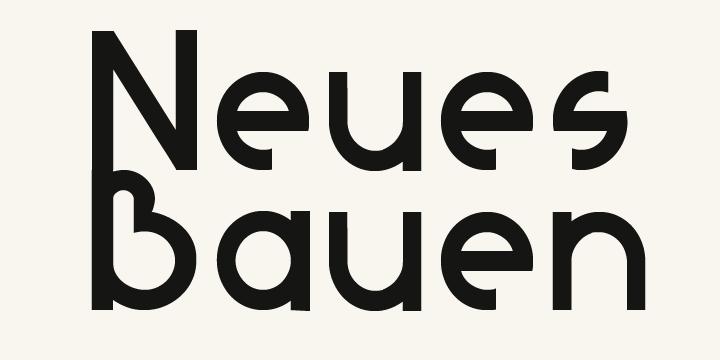 Image for Neues Bauen font