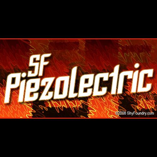 Image for SF Piezolectric font
