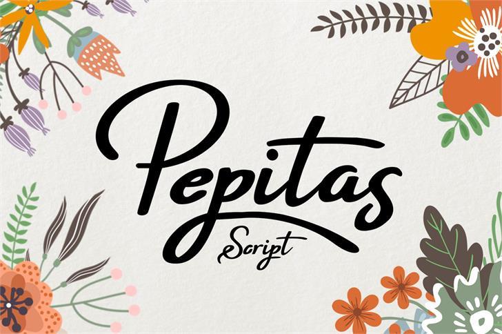 Pepitas font by Eva Barabasne Olasz