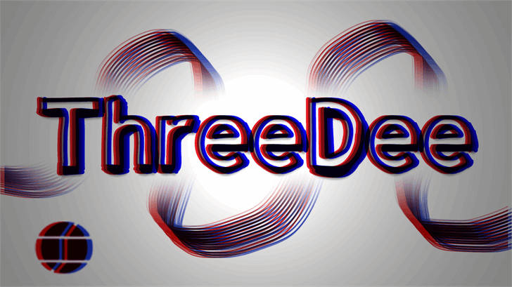 Image for ThreeDee font