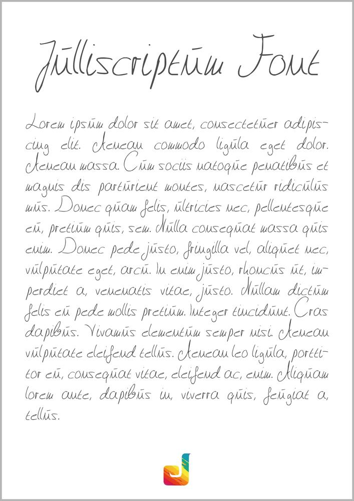 Image for Julliscriptum font