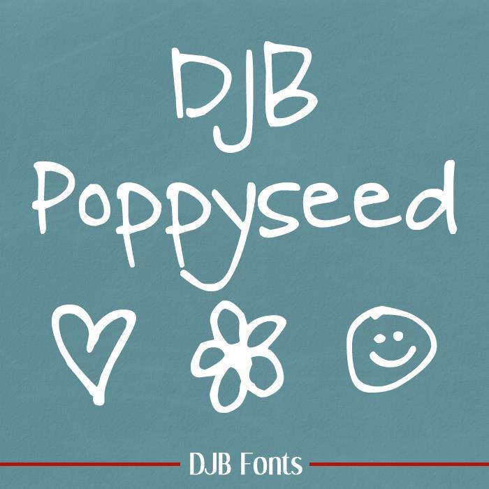 Image for DJB Poppyseed font