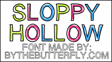 Image for SloppyHollow font