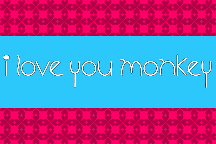 Image for I Love You Monkey font