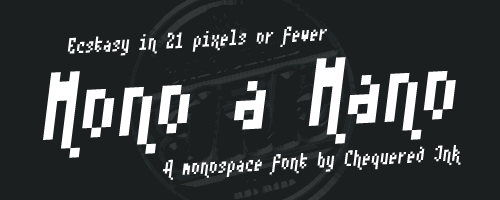 Mono a Mano font by Chequered Ink
