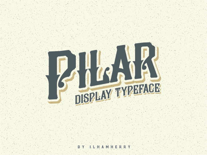 Pilar Typeface font by Ilhamherry