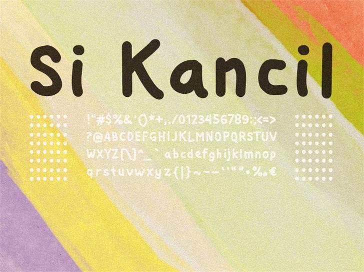 Image for Si Kancil font