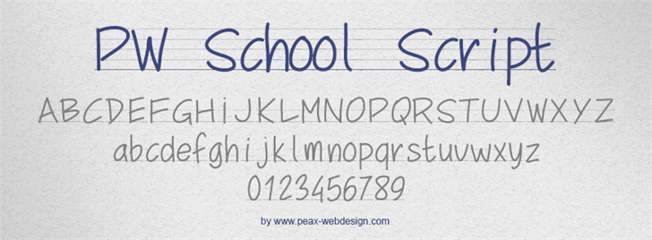 Image for PWSchoolScript font