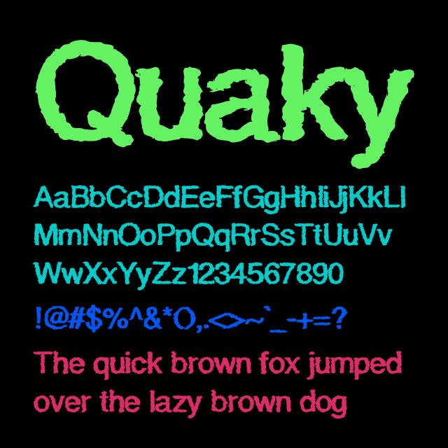 Image for Quaky font