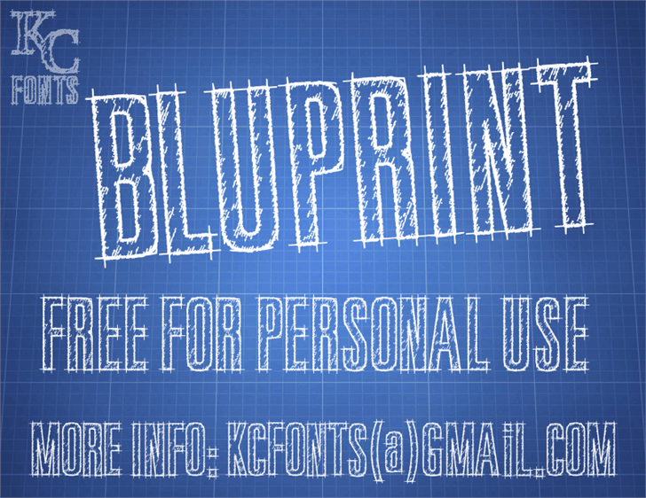 Image for Bluprint font
