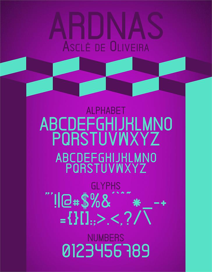 Ardnas font by Asclê de Oliveira