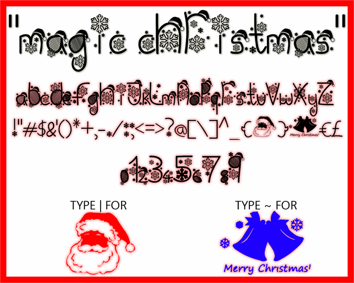 Image for Magic Christmas font
