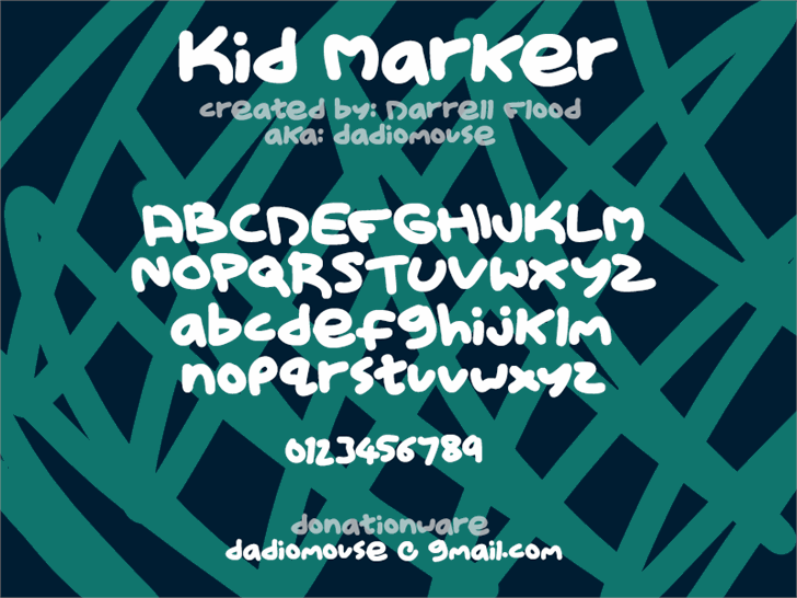 Kid Marker font by Darrell Flood