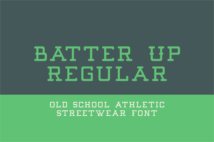 Batter Up font by Out Of Step Font Company