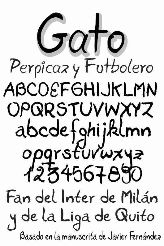 Image for Gato font
