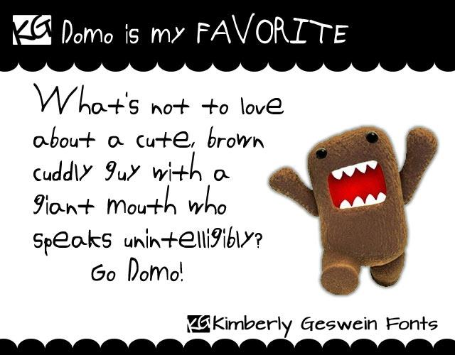 Image for Domo is my FAVORITE font