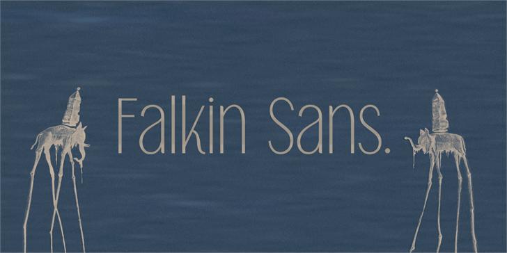Image for Falkin Sans PERSONAL font