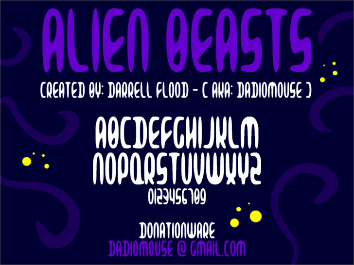 Image for Alien Beasts font