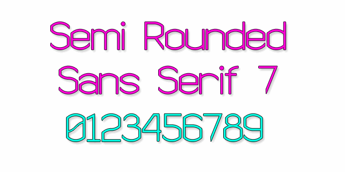 Image for Semi Rounded Sans Serif 7 font