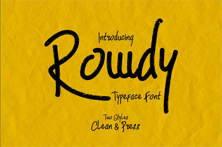 Image for Rowdy font