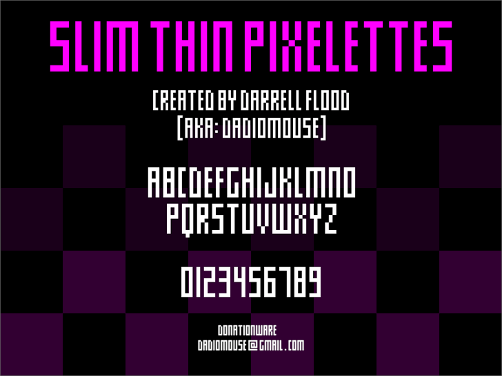Image for Slim thin pixelettes font