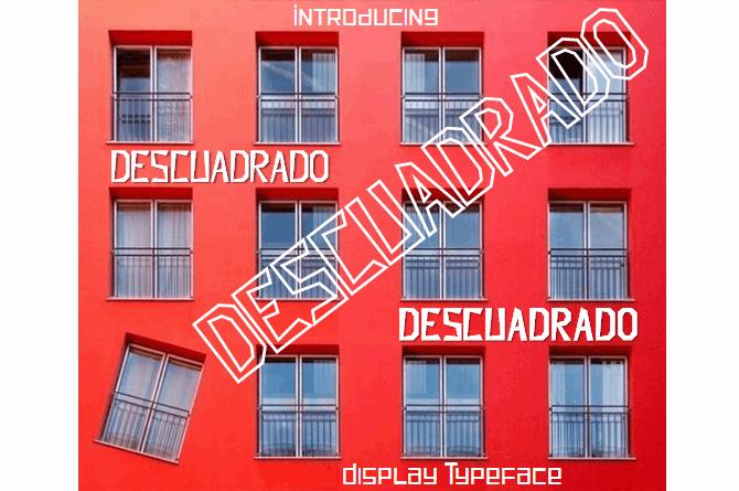 Descuadrado font by Jaime Rangel Castro
