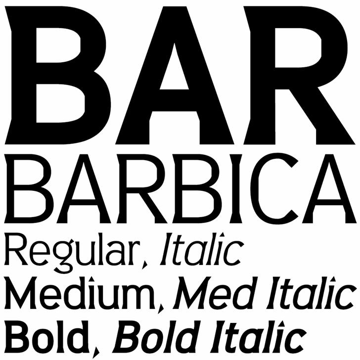 Image for Barbica font