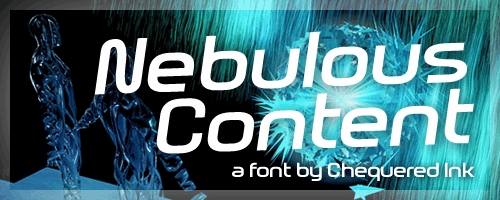 Nebulous Content font by Chequered Ink