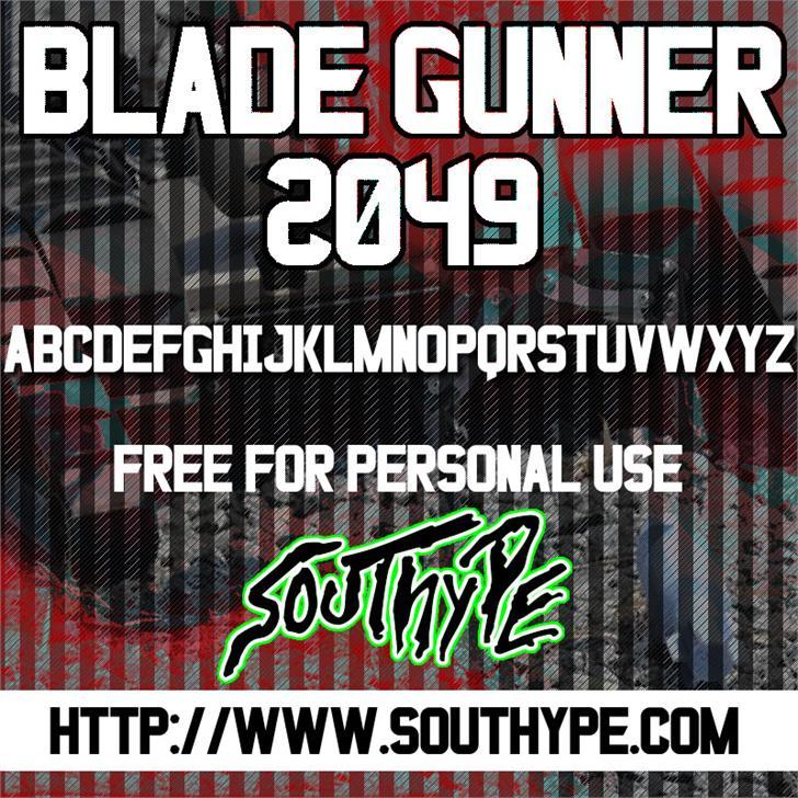 Blade Gunner 2049 St font by Southype